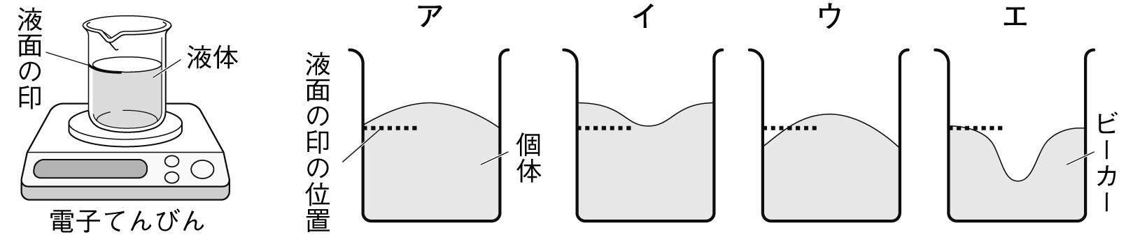 状態変化と質量・体積