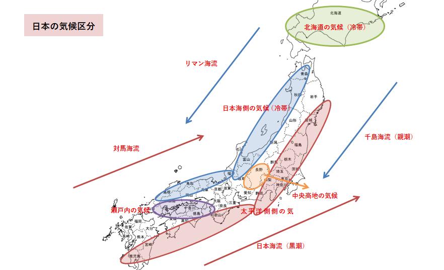 日本の気候