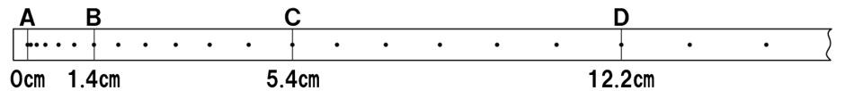 記録テープでの速さの計算