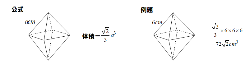 正八面体の体積