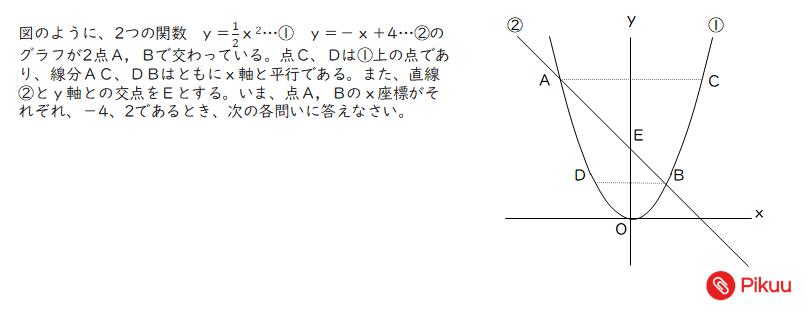 台形の二等分線の問題
