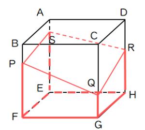 切断された立体の体積問題1